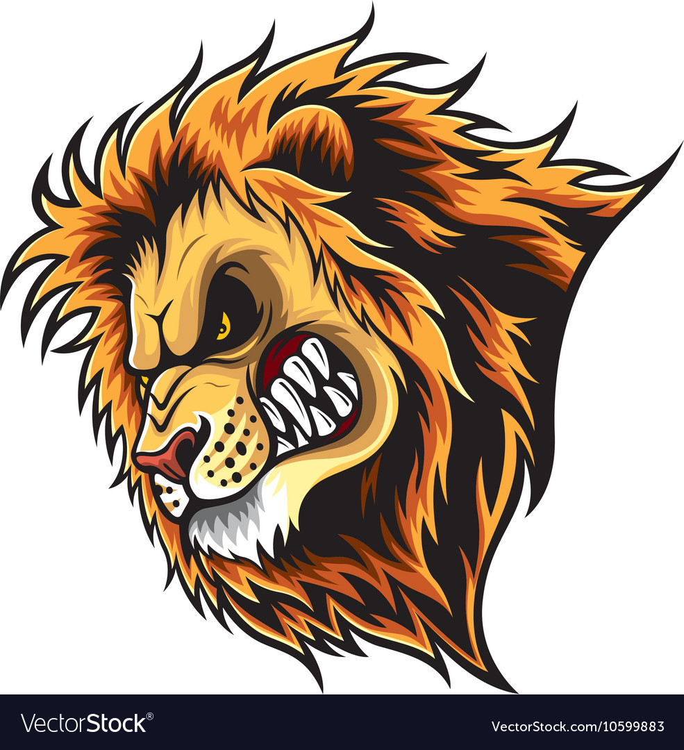 angry lion head royalty