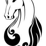 Silhouette A Horse Head Royalty Free Vector Image