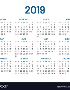 also simple wall calendar year flat isolated vector image rh vectorstock