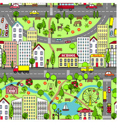 Kids Town Map Vector Images over 120