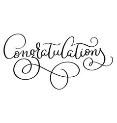 Congratulations calligraphy hand written Vector Image