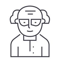 Professor scientist icon Royalty Free Vector Image