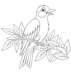 Swallow over a summer field Royalty Free Vector Image