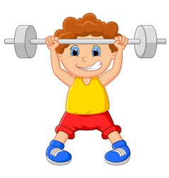 baby lifting weights vector
