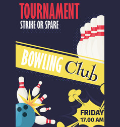 bowling invite vector images