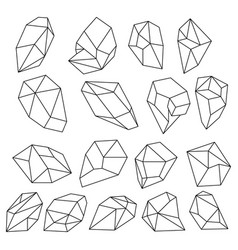 Simple geometric 2d shapes school geometry Vector Image