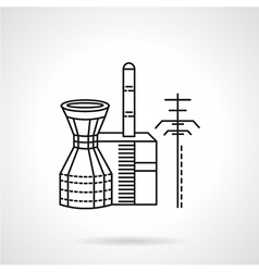 Hydropower plant icon Royalty Free Vector Image