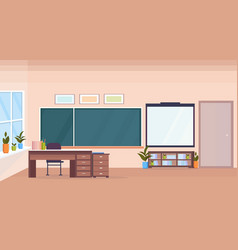 Empty Classroom Cartoon Background Vector Images over 470