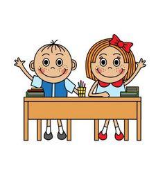 School Desk Vector Images over 19 000