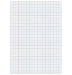 Notebook paper with lines Royalty Free Vector Image