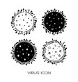 Hand drawn corona virus doodle style isolated Vector Image