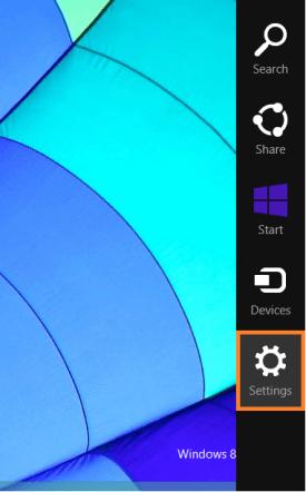 Windows 8 Sleep - Панель чудо-кнопок - Настройки - WindowsWally