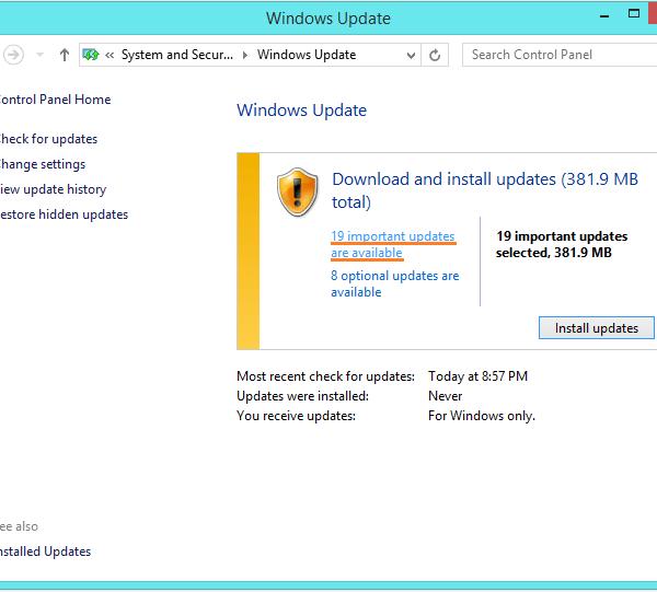Несоответствие индекса APC - Обновление Windows - проверка обновлений 2 - Windows Wally
