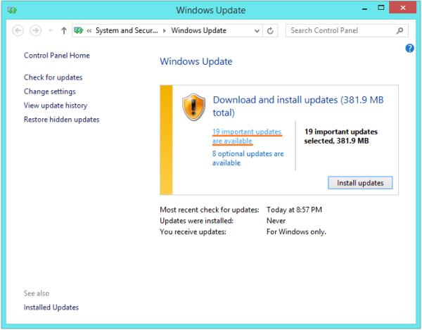 CACHE MANAGER - Центр обновления Windows - проверка обновлений 2 - Windows Wally