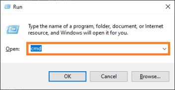 Schwerwiegender Gerätehardwarefehler - Windows-Taste + R - Ausführen - cmd - Windows 10