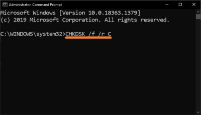 WHEA_UNCORRECTABLE_ERROR - Командная строка - Запуск от имени администратора - Windows 10 - - SS - Проверить диск - chkdsk f - 2 - Windows 10 - Windows Wally