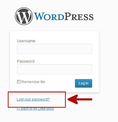 Lost password recovery link on WordPress login Page