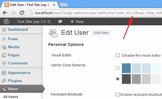 Finding user id in WordPress