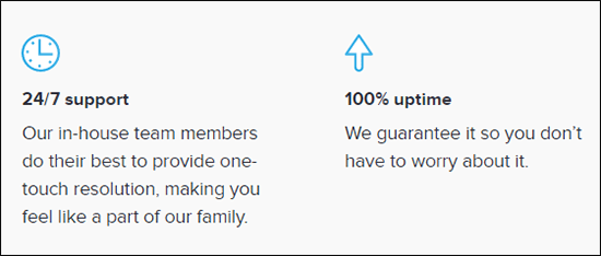 DreamHost offers 24/7 support and 100% uptime