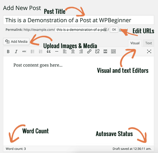Title and Content boxes on WordPress Post Edit screen