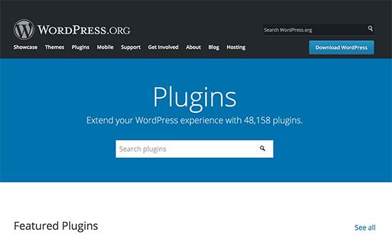 WordPress.org上的新外掛目錄頁面