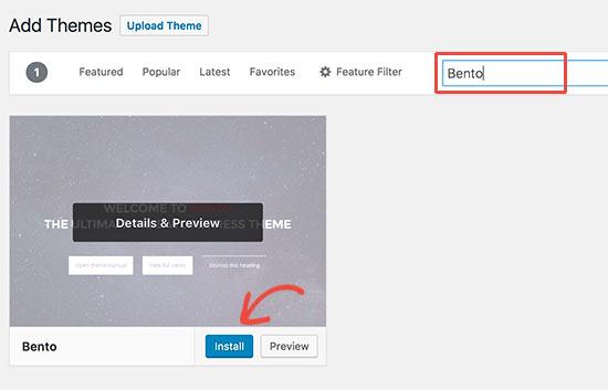 Installeer het WordPress-thema
