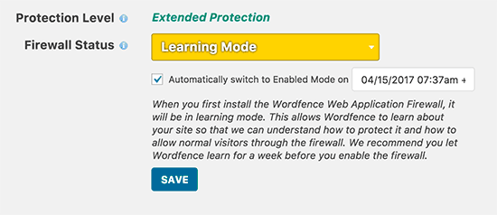 Extended protection enabled