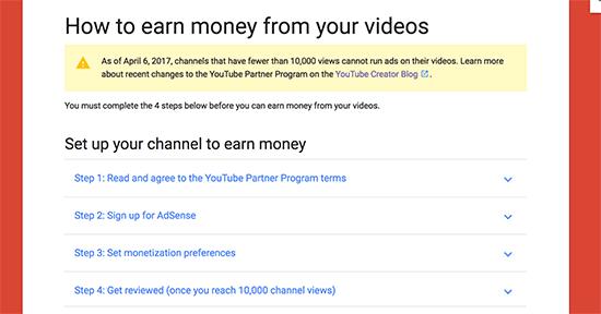 Hasilkan uang dari video di YouTube