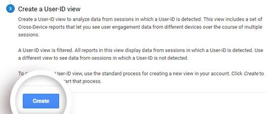 Create user ID tracking