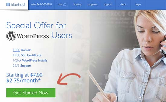 Getting free domain name with Bluehost