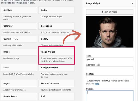Image widget plugin