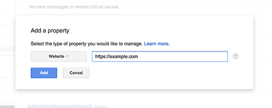 Add your https URL