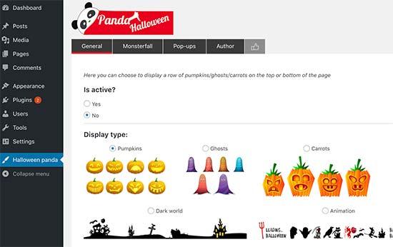 Halloween decorations settings