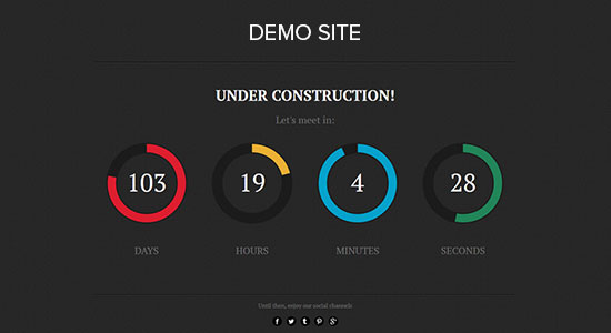 Countdown timer demo