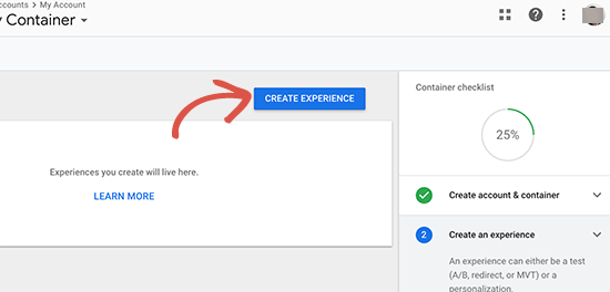 Create experience