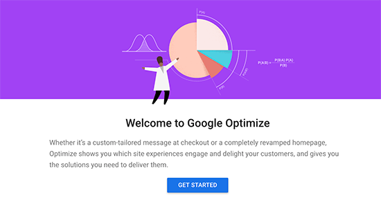 Get started with Google Optimize