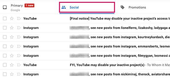 Social emails