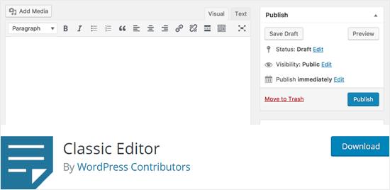 Classic Editor WordPress plugin