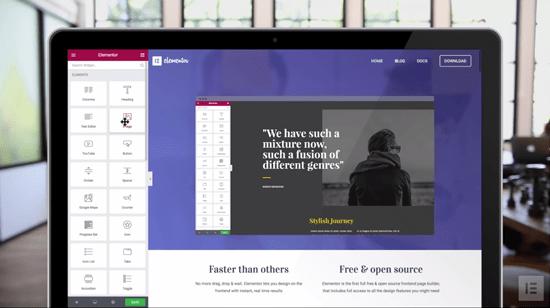 Elementor WordPress Drag and Drop Page Builder plugin