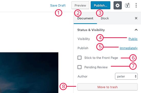 Publiceer opties