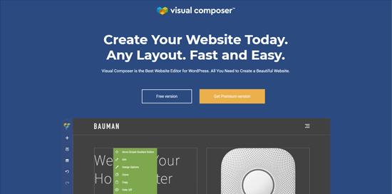 Plugin Pembuat Situs Web Komposer Visual