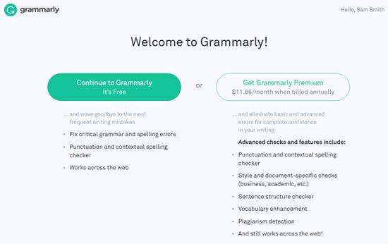 Choose a Grammarly Plan