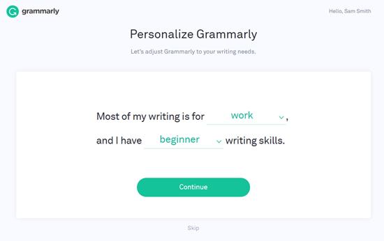 Персонализировать грамматику