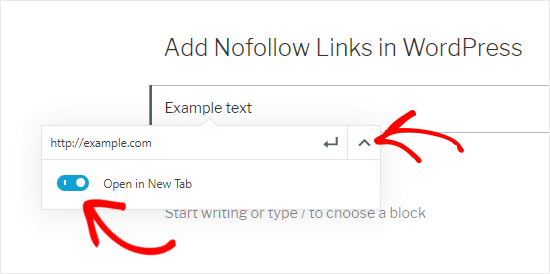 Add external link to the textbox