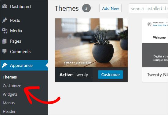 Cómo acceder al personalizador de WordPress