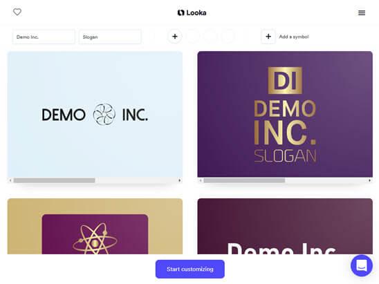 Logos generated by Looka