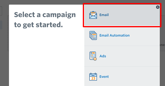 Select Email Campaign