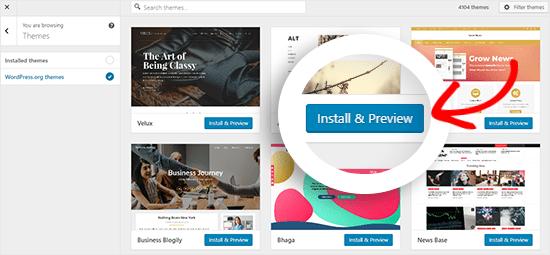 WordPress thema's directory