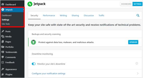 Особенности Jetpack в блоге WordPress