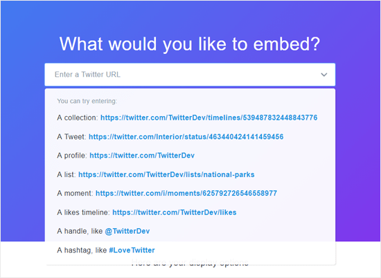 Twitter Publish for Embedding Tweets into Websites